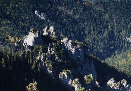 Zameczki (albo Słupy), wid. spod Wrótek #góry #masyw #mountain #Tatry #Zachodnie #Zameczki #Słupy #Wrótka