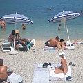 A tutaj plaża przy hotelu Belveder w Vrsarze w Chorwacji:) #wakacje #chorwacja #morze #zwiedzanie #upał #lody