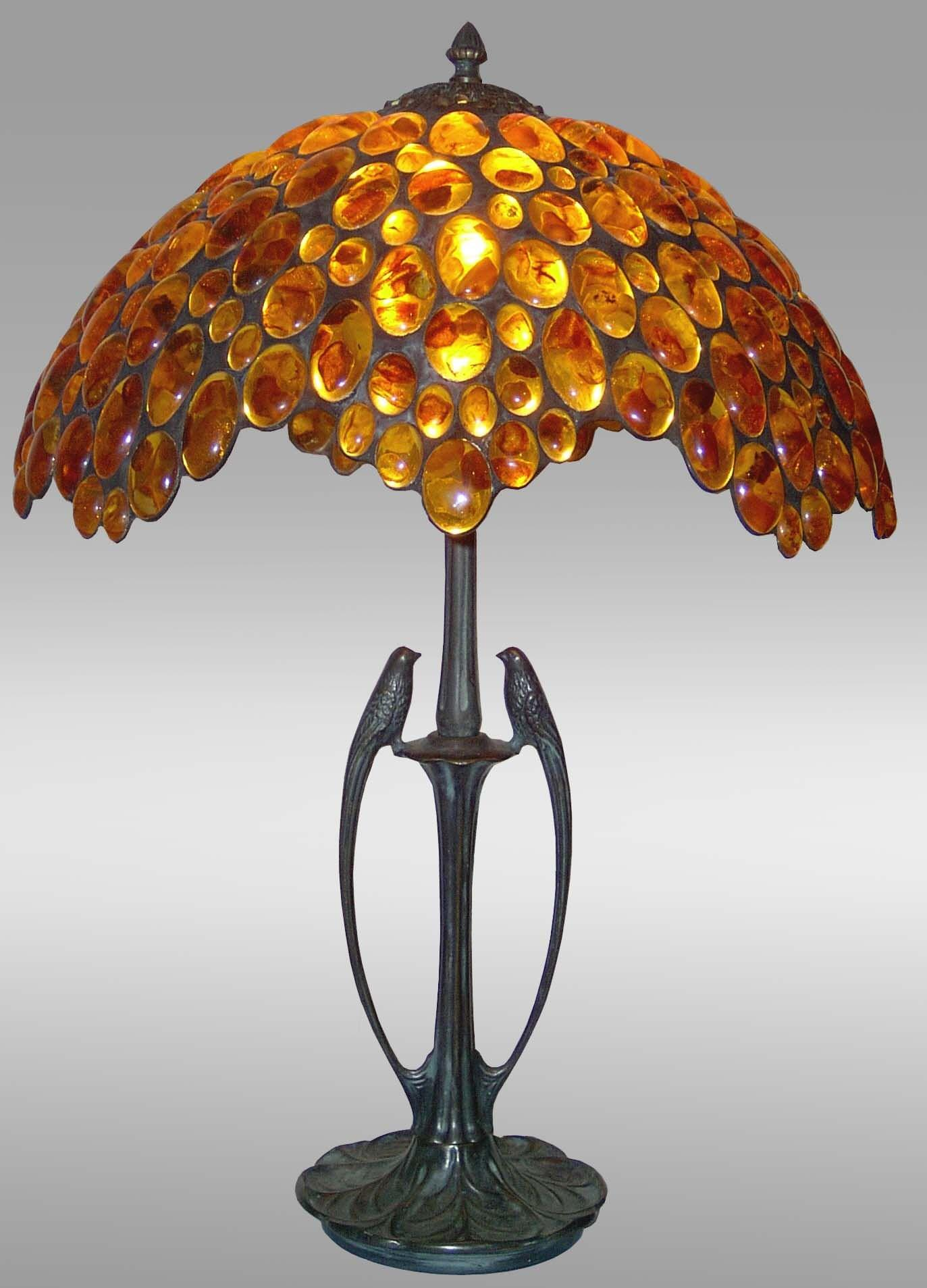 luxury tiffany lamp amber table lamp large birds lamp with solid. Black Bedroom Furniture Sets. Home Design Ideas