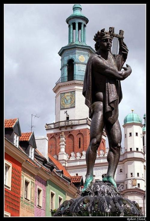 Fontanna Apollina #Poznań #Warta #koziołki