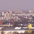 Widok z bloku na ulicy Lasówka Kraków marzec 2007 #kraków #miasto #wieżowiec #lasówka #koszykarska #widok #bloki #osiedle