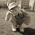 pierwszy dzień wiosny #baby #boys #chłopiec #dziecko #dzieci #family #humor #kids #króliczek #królik #oczy #przyjaciel #uśmiech #Wiosnakwiecień2007 #stokrotki